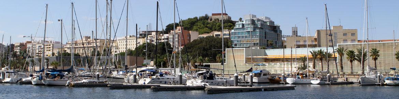 Yacht Port Cartagena, the marina in the Mediterranean Sea (Cartagena