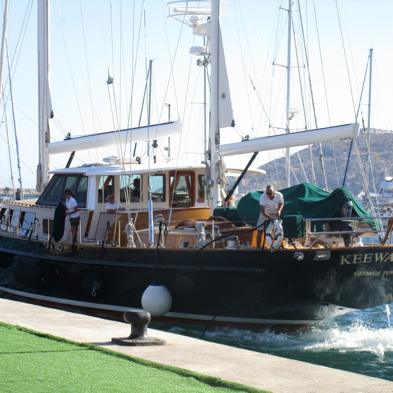 El velero Keewaydin visita Yacht Port Cartagena (1)