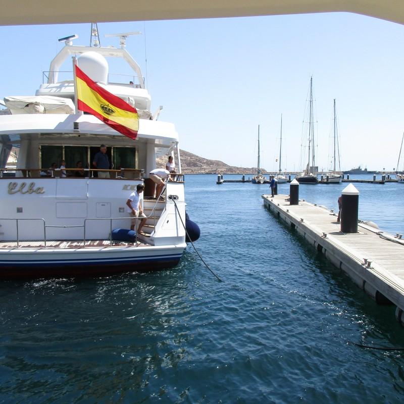 Yate Elba atraca en Yacht Port Cartagena (2)