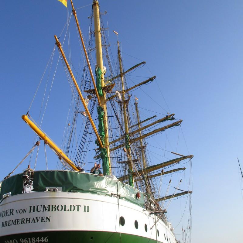 El buque escuela Alexander von Humbolt en Yacht Port Cartagena