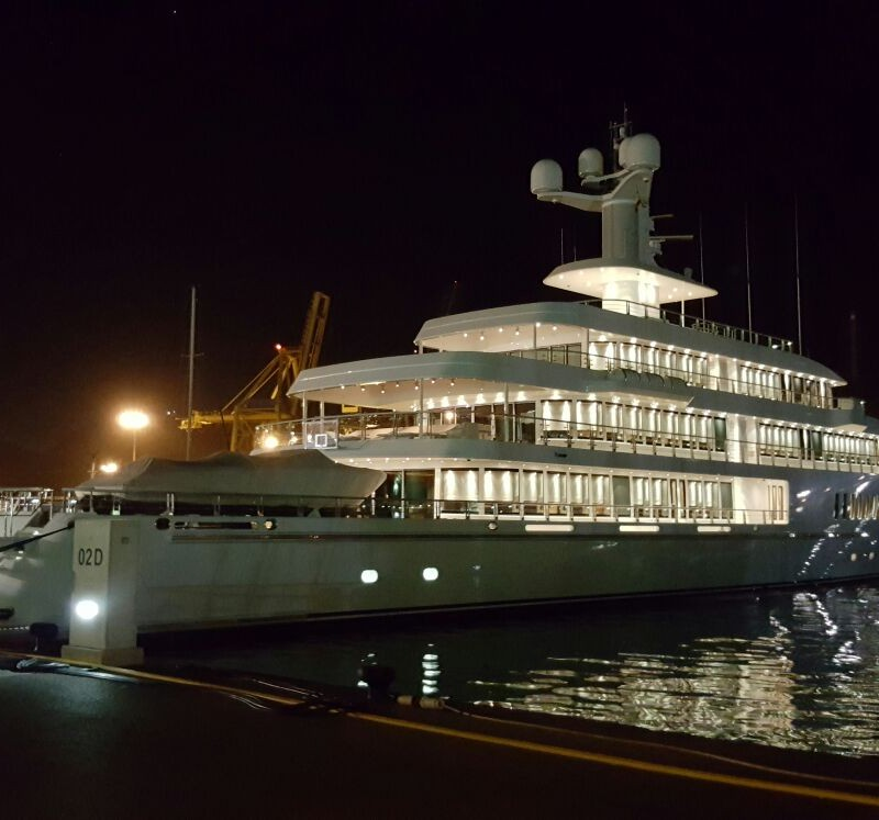 Musashi at night in Yacht Port Cartagena