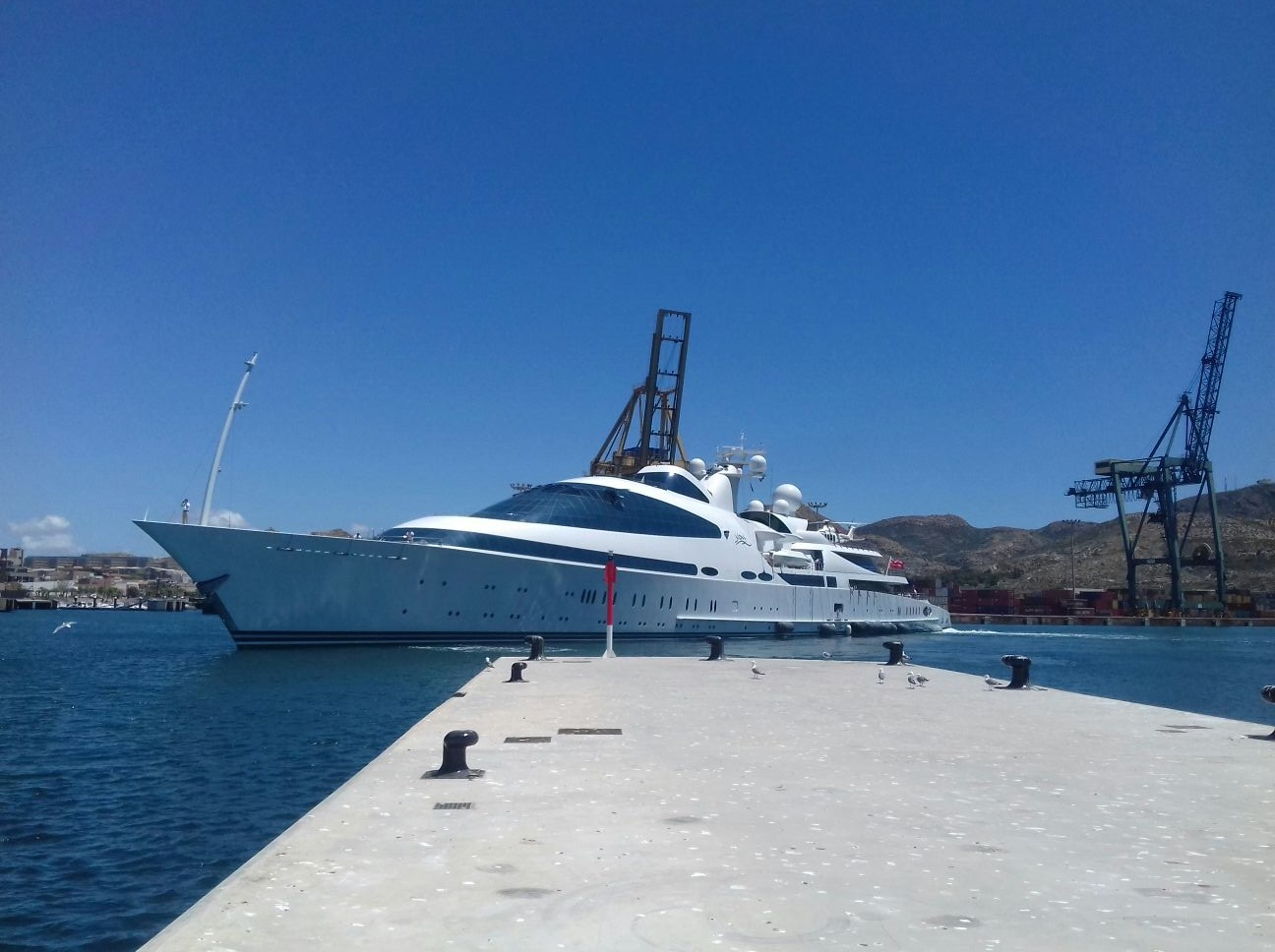 Motor yacht YAS berthed at Yacht Port Cartagena