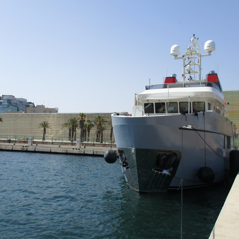 EXPLORER YACHT CAROLIN IV VISITS YACHT PORT CARTAGENA   (1)