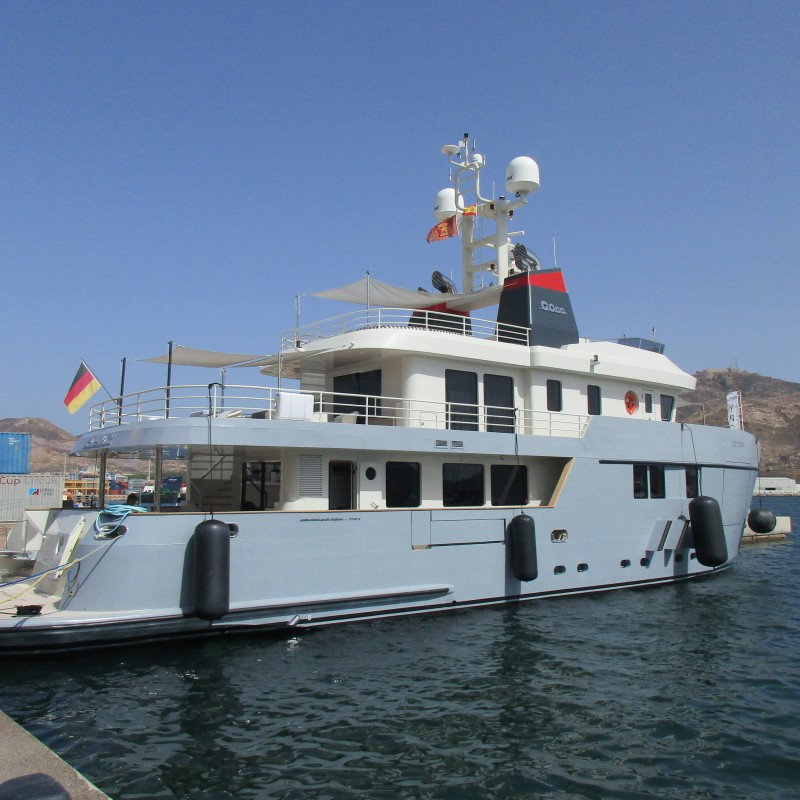 EXPLORER YACHT CAROLIN IV VISITS YACHT PORT CARTAGENA   (2)