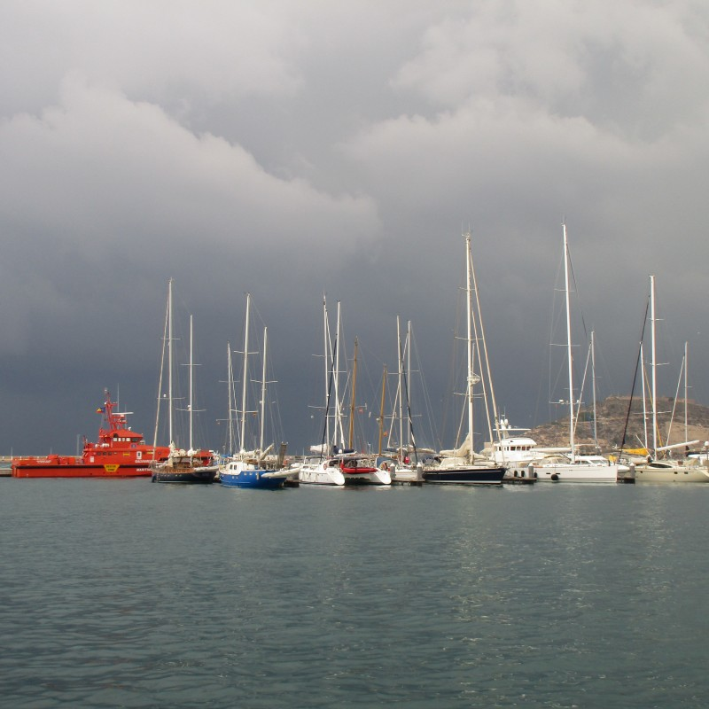 Cloudy weather in Cartagena